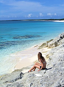 Beautiful secluded beaches on Providenciales